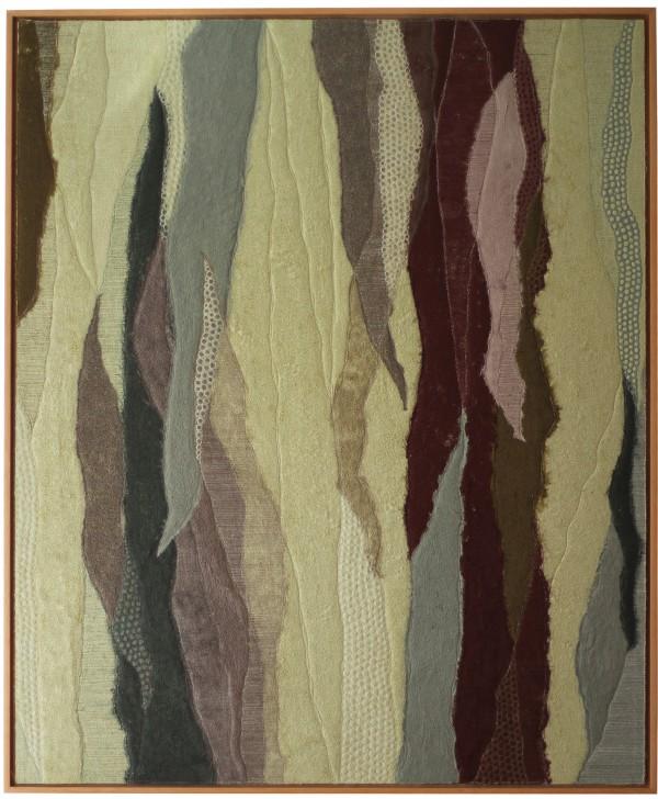 Costura sobre feltragem a seco sobre tecidos diversos 110X90cm [VFI012]