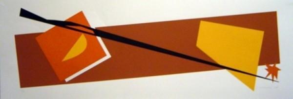 Gravura editada, na técnica Serigrafia, em papel francês 250 gramas 33X96cm